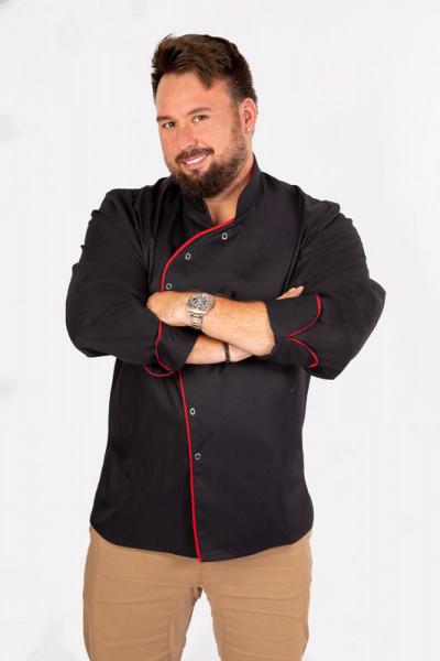 Performance Kochjacke Lorenzo_Black Edition von Enrico Wieland Berufsbekleidung