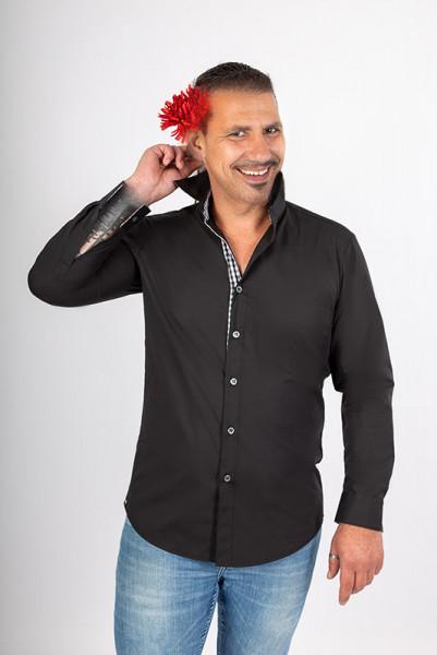 Men's Shirt Rike_Black Edition by Enrico Wieland