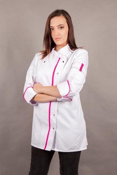Performance Damenkochjacke Alessia_White Edition von Enrico Wieland Berufsbekleidung