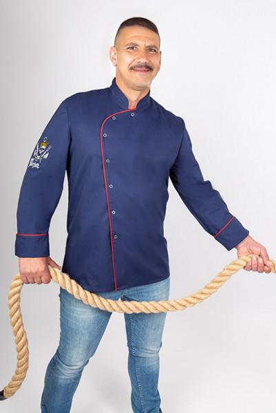 Kochjacke Lorenzo_Navy Edition von Enrico Wieland
