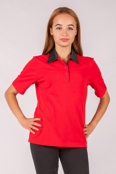 Ladies polo shirt Pauline_Jeans Edition with snaps