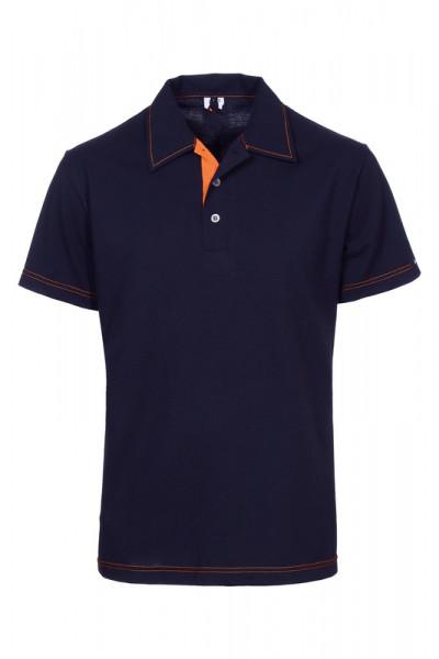 Herren Poloshirt Martin_Navy Edition mit Steppnaht