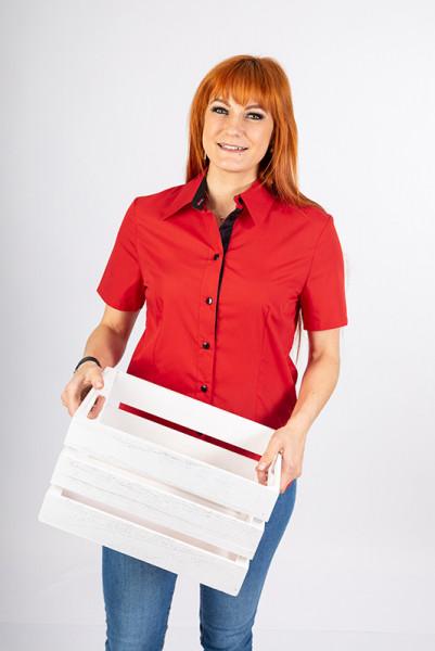 Ladies blouse Rieke BW (cotton) by Enrico Wieland Professional Fashion