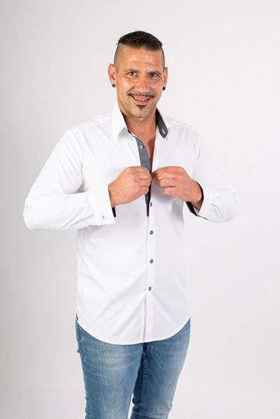 Herrenhemd Rike_White Edition von Enrico Wieland