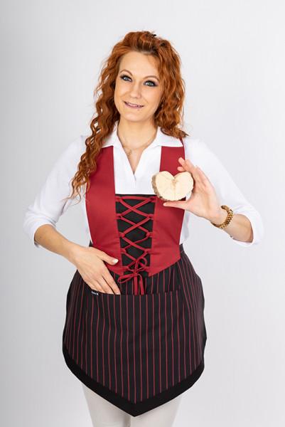 Bib apron Theresa_Black Cherry Edition by Enrico Wieland Workwear
