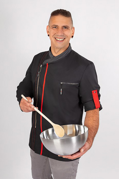 Chef's jacket Alejandro_with zipper_Serie 129 by Enrico Wieland