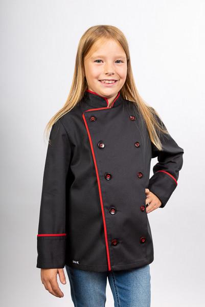 Kids chef jacket Sammy_Black Edition