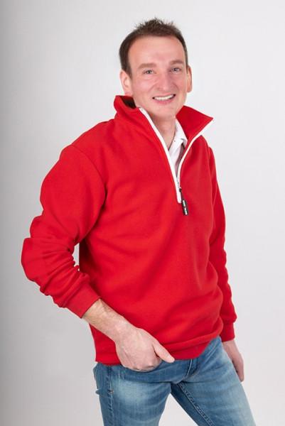 Fleece half zip sweater Asien in many colors
