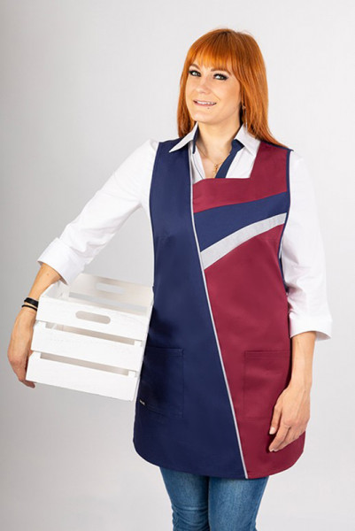 Performance throw-over apron Marianna_Navy Edition by Enrico Wieland Workwear