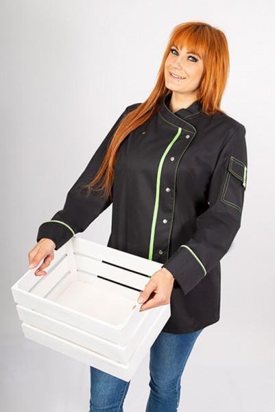 Ladie's chef jacket Alessia_Black Edition by Enrico Wieland