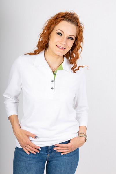 Damen Poloshirt Patty_White Edition von Enrico Wieland